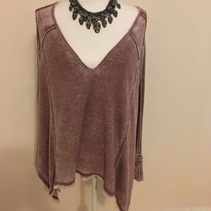 Free People Pacific Thermal Dusty Pink S